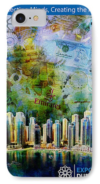 Poster Dubai Expo - 6 IPhone Case by Corporate Art Task Force