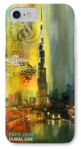 Poster Dubai Expo - 7 IPhone Case by Corporate Art Task Force