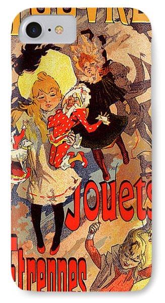 Poster For Magasins Du Louvre. Chéret, Jules 1836-1932 IPhone Case by Liszt Collection