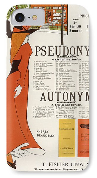 Poster For 'the Pseudonym And Autonym Libraries' IPhone Case by Aubrey Beardsley