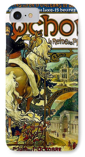 Poster For Trains To Luchon IPhone Case by Alphonse Marie Mucha