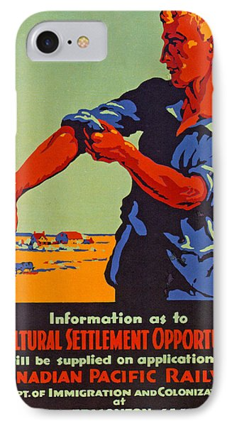 Poster Promoting Emigration To Canada IPhone Case by Canadian School
