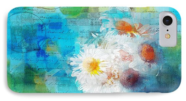 Pot Of Daisies 02 - J3327100-bl1t22a IPhone Case by Variance Collections