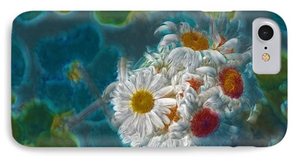 Pot Of Daisies 02 - S11bl01 Phone Case by Variance Collections