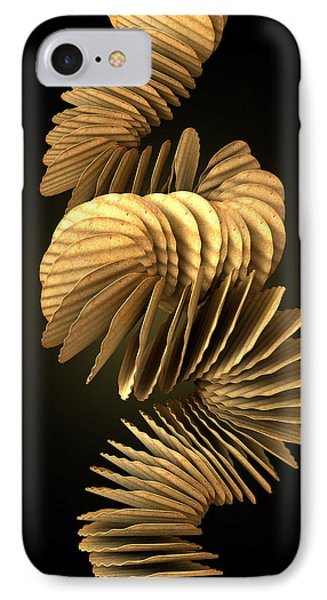 Potato Chip Stack Falling IPhone Case by Allan Swart