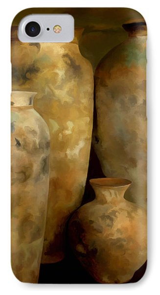 IPhone Case featuring the painting Pots Of Time by Michael Pickett