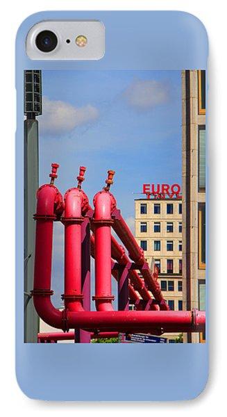 Potsdamer Platz Pink Pipes In Berlin Phone Case by Ben and Raisa Gertsberg