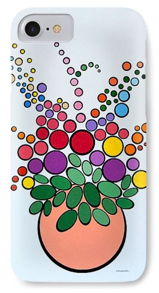 Potted Blooms - Orange IPhone Case by Thomas Gronowski
