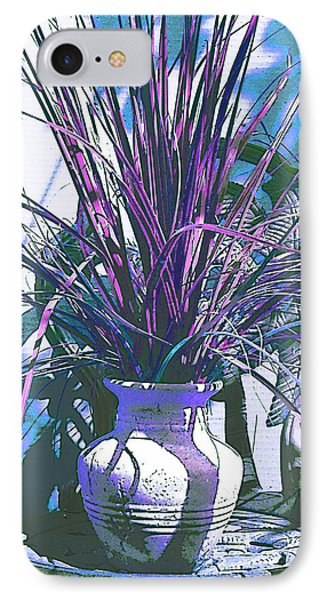 Potted In Blue IPhone Case by Ginny Schmidt