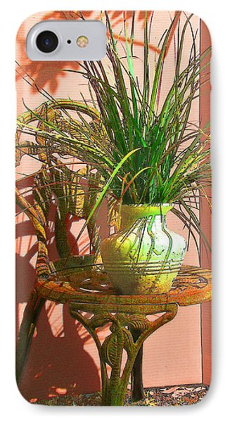 Potted Plant In Chair No 3 Phone Case by Ginny Schmidt