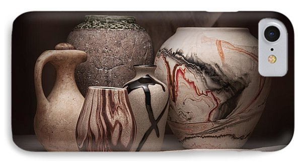 Pottery Still Life IPhone Case by Tom Mc Nemar