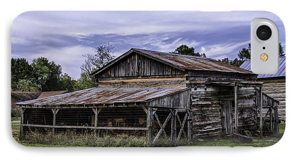 IPhone Case featuring the photograph Pottsville Arkansas Historic Log Barn by Betty Denise