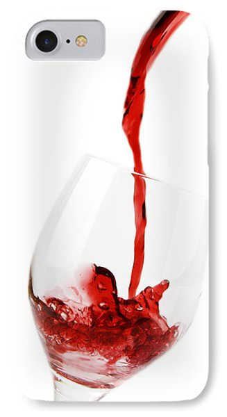 Pouring Red Wine Phone Case by Chevy Fleet