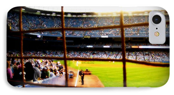 IPhone Case featuring the photograph Pov Right Field Foul Pole Original Yankee Stadium by Aurelio Zucco