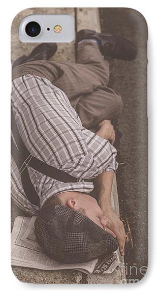 Poverty Stricken Newspaper Boy IPhone Case by Jorgo Photography - Wall Art Gallery