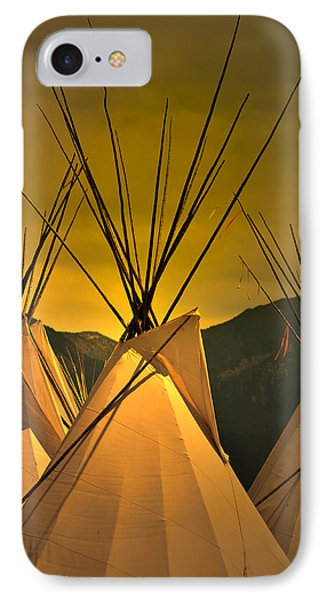 Pow Wow Camp At Sunrise IPhone Case