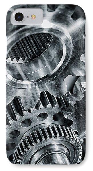 Power Gears And Cogwheels Enginnering And Technology IPhone Case by Christian Lagereek