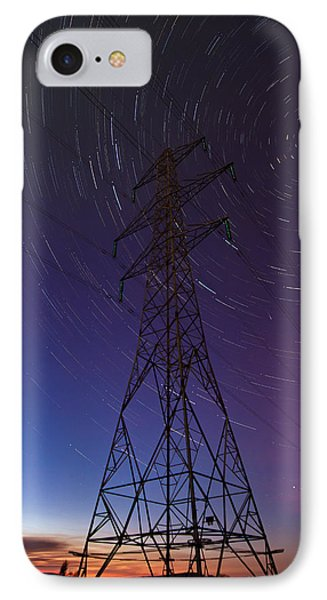 Power Line And Star Trails IPhone Case