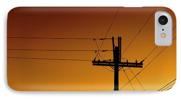 Power Line Sunset IPhone Case