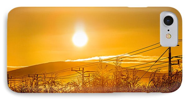 Power Lines And Trees In The Frozen IPhone Case by Panoramic Images