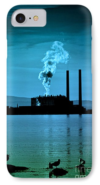 Power Station Silhouette Phone Case by Craig B