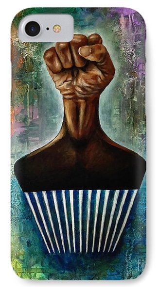 Power To The Afro Pick Phone Case by Ka-Son Reeves