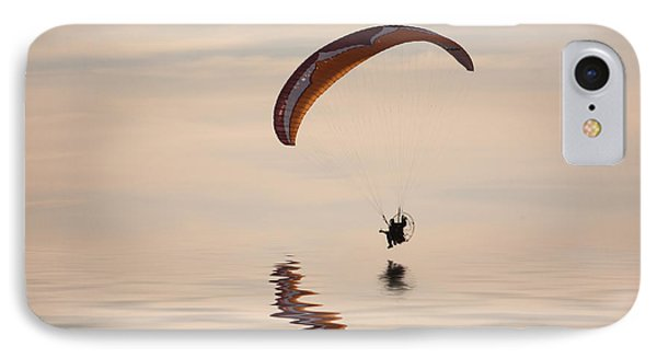 Powered Paraglider IPhone Case by John Edwards