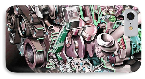Powerful Car Engine  IPhone Case by Lanjee Chee