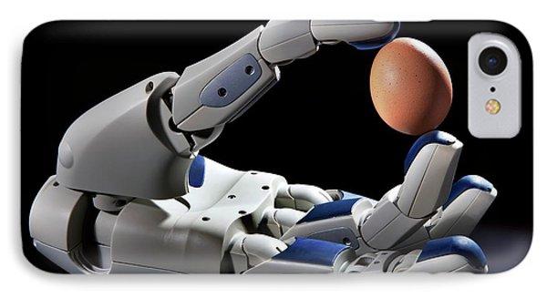 Pr2 Robot Hand Holding An Egg IPhone Case by Patrick Landmann
