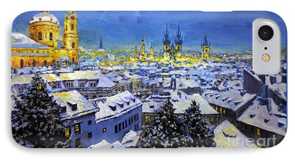 Prague After Snow Fall IPhone Case