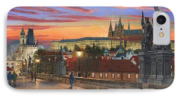 Prague At Dusk Phone Case by Richard Harpum