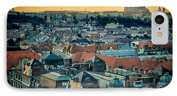 Prague Castle Sunset Phone Case by Joan Carroll