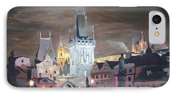 Prague Charles Bridge - Karluv Most Phone Case by M Bleichner