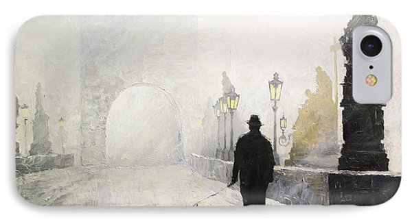 Prague Charles Bridge Morning Walk 01 IPhone Case