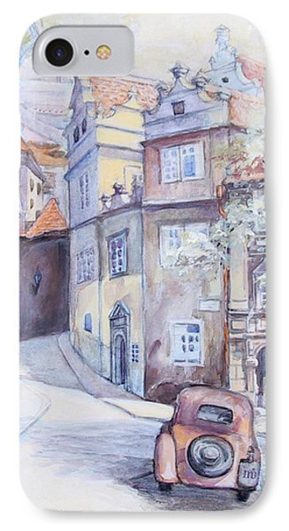 Prague Golden Well Lane IPhone Case by Marina Gnetetsky