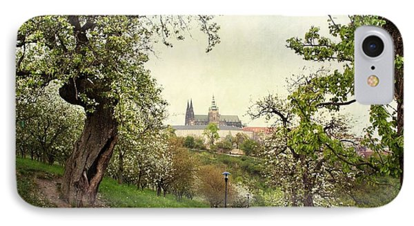 Prague In Bloom I IPhone Case
