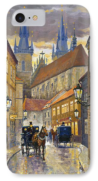 Street iPhone 7 Case - Prague Old Street Stupartska by Yuriy Shevchuk
