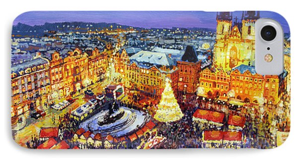 Prague Old Town Square Christmas Market 2014 Phone Case by Yuriy Shevchuk
