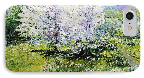 Prague Spring In The Petrin Gardens Phone Case by Yuriy Shevchuk
