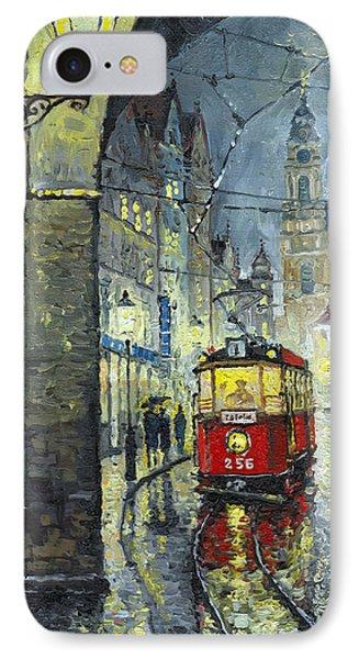 Praha Red Tram Mostecka Str  Phone Case by Yuriy  Shevchuk