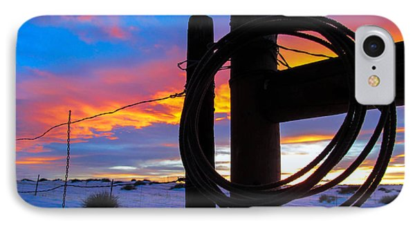 Prairie Fence Sunset IPhone Case