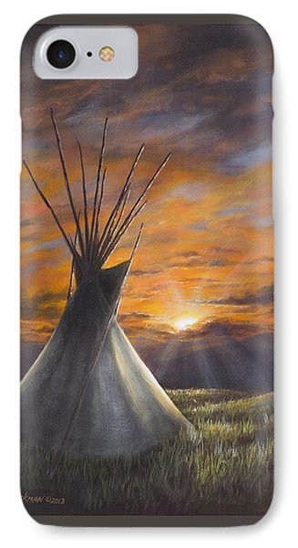 Prairie Sunset IPhone Case by Kim Lockman