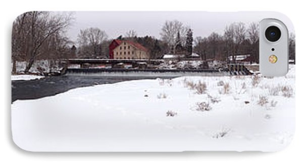 Prallsville Mills And Waterfalls - Stockton New Jersey Panorama IPhone Case by Bill Cannon