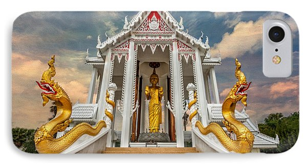 Pranburi Temple IPhone Case by Adrian Evans