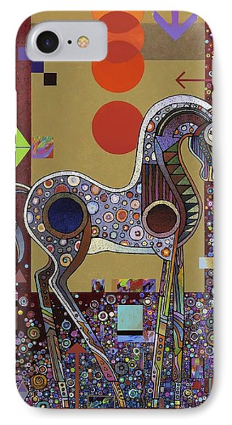 IPhone Case featuring the painting Prancer II by Bob Coonts