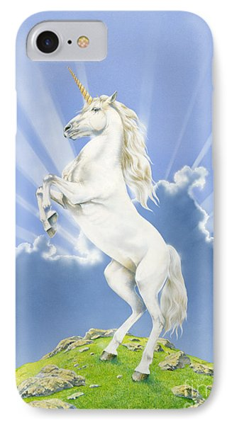 Prancing Unicorn IPhone Case by Irvine Peacock