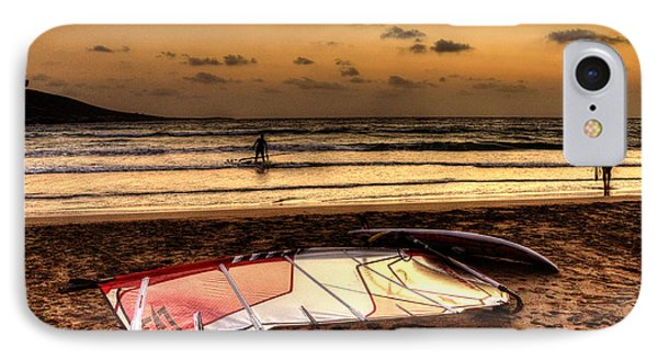 IPhone Case featuring the photograph Prasonisi - A Day Of Windsurfing Is Over by Julis Simo
