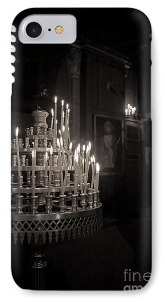 IPhone Case featuring the photograph Prayer Candles by Aiolos Greek Collections
