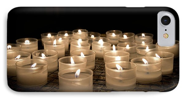 Prayer Candles In The Church Of Santa IPhone Case