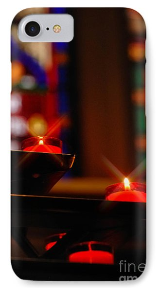 Prayer Candles Trinity Cathedral Pittsburgh Phone Case by Amy Cicconi